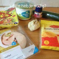 Kipfilet-wraps met knofloofkwark